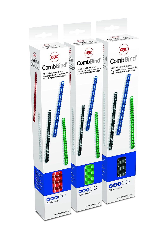 GBC Binderücken Plastik, A4, 21 Ringe, 8 mm für 45 Blatt, 25 Stück PVC Binderücken, weiß GBC Binderücken Plastik 8 mm für 45 Blatt weiß 4020636
