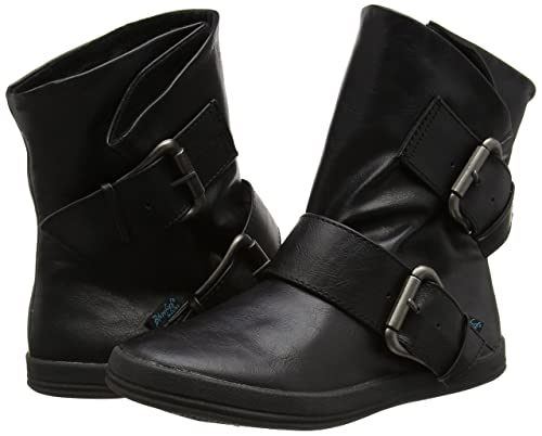 Neu DAMEN BLOWFISH SCHWARZ COLDEM SYNTHETIK STIEFEL STIEFELETTEN