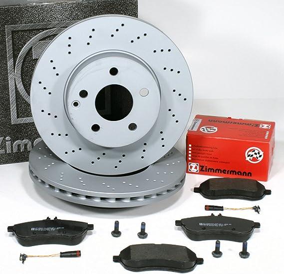 Zimmermann Bremsscheiben Gelocht Ø 295 Mm Coat Z Bremsen Bremsbeläge Warnsensor Für Vorne Die Vorderachse Auto