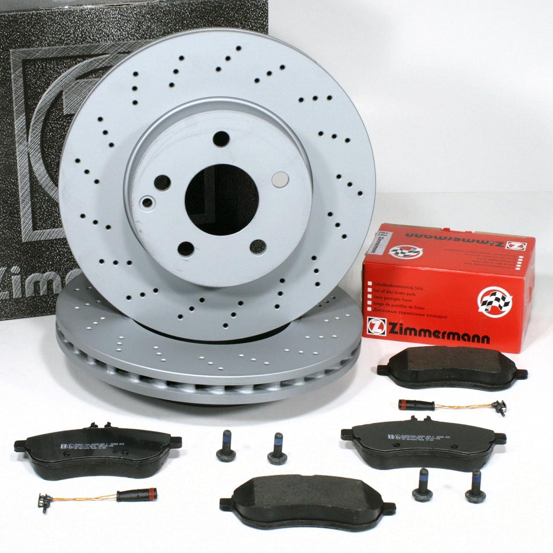 Zimmermann Bremsscheiben gelocht Ø 295 mm Coat Z/Bremsen + Bremsbeläge + Warnsensor für vorne/die Vorderachse Autoparts-Online