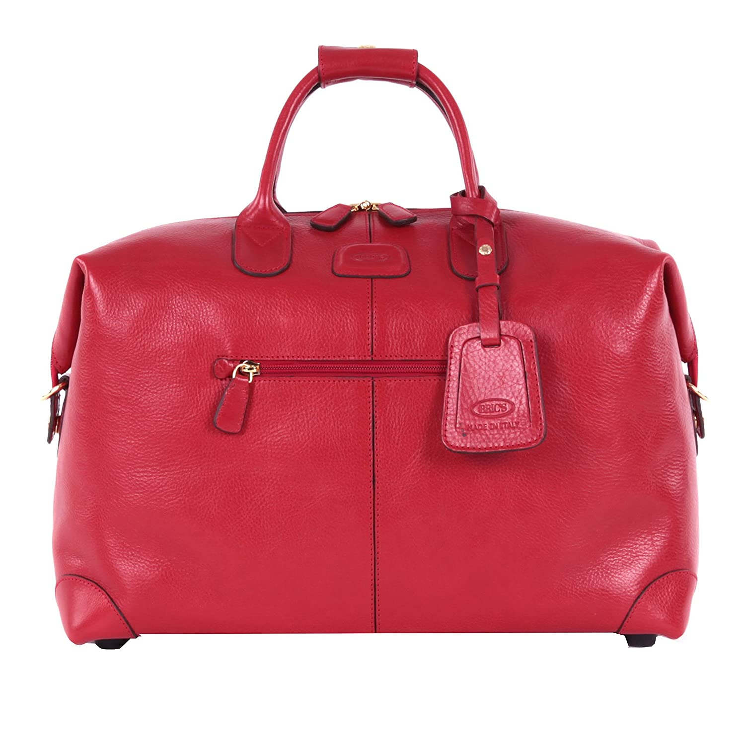 Bric's Luggage Life Pelle 18 Inch Cargo Duffle (Red) good