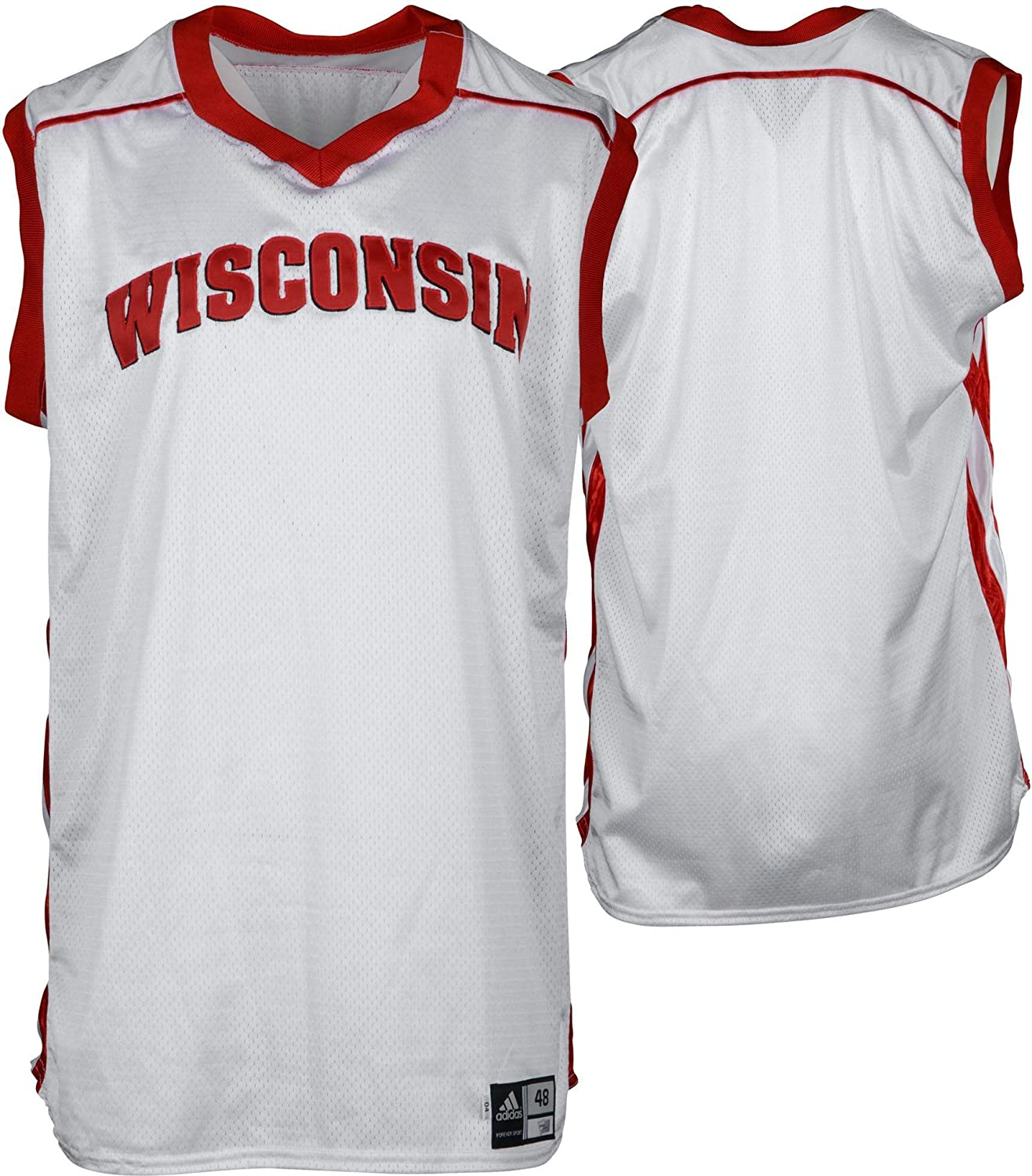 low priced 07764 d92e7 Wisconsin Badgers Team-Issued White Practice Jersey from the ...