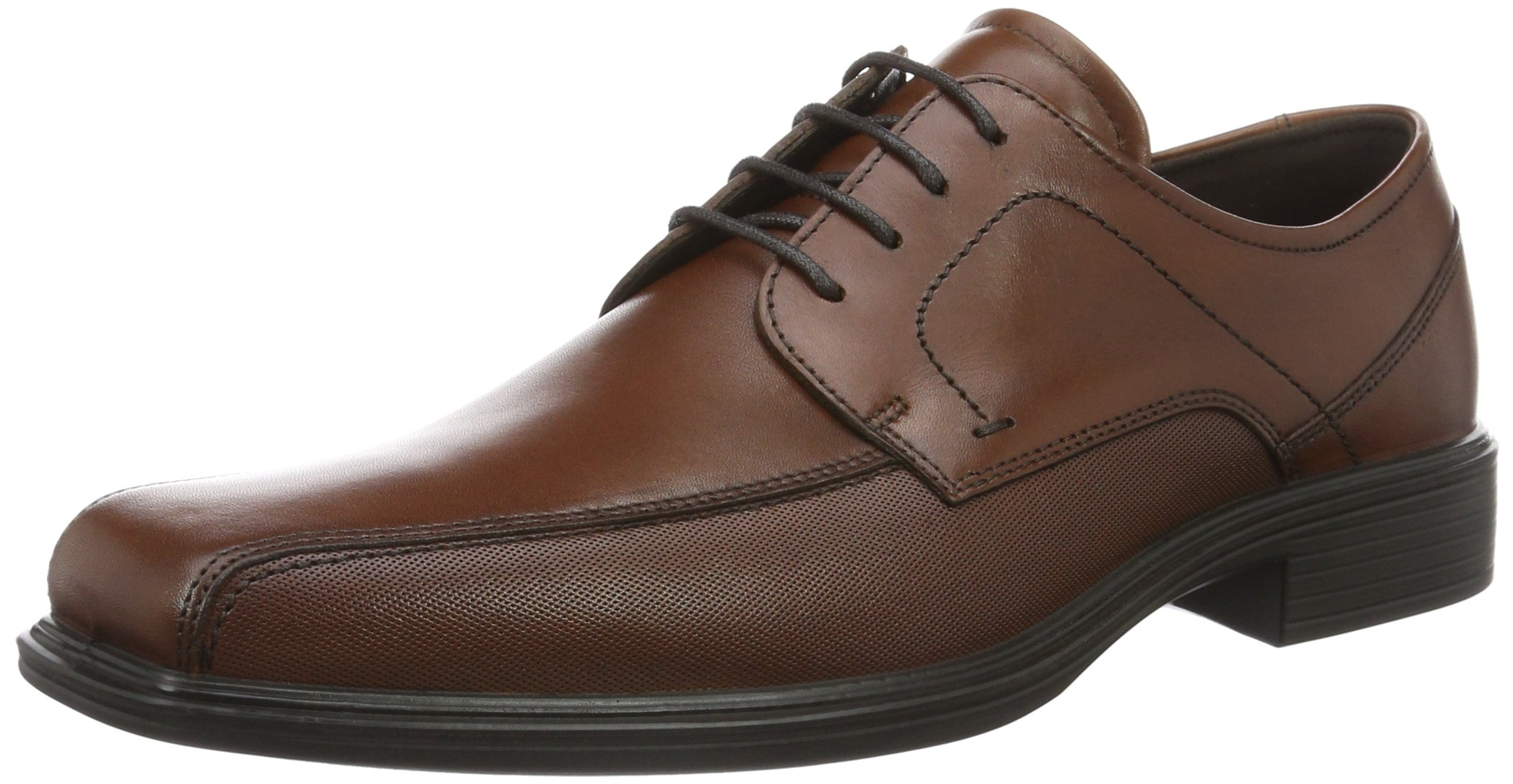 ECCO Men's Johannesburg Bike Toe Tie Oxford, Cognac, 46 EU/12-12.5 M US