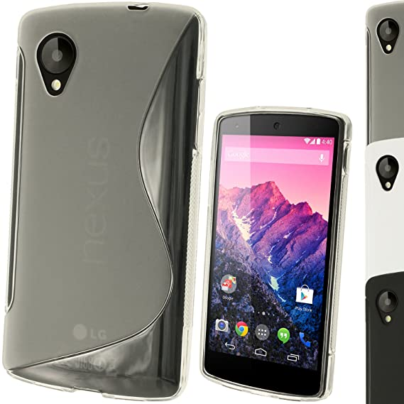 igadgitz S Line de TPU Cases for LG Google Nexus 4 y 5: Amazon.es ...