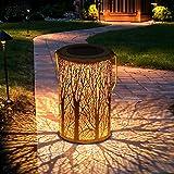 Luces de linterna solar, Tencoz Luces solares para exteriores para atmósfera decorativa Linterna de jardín colgante para…