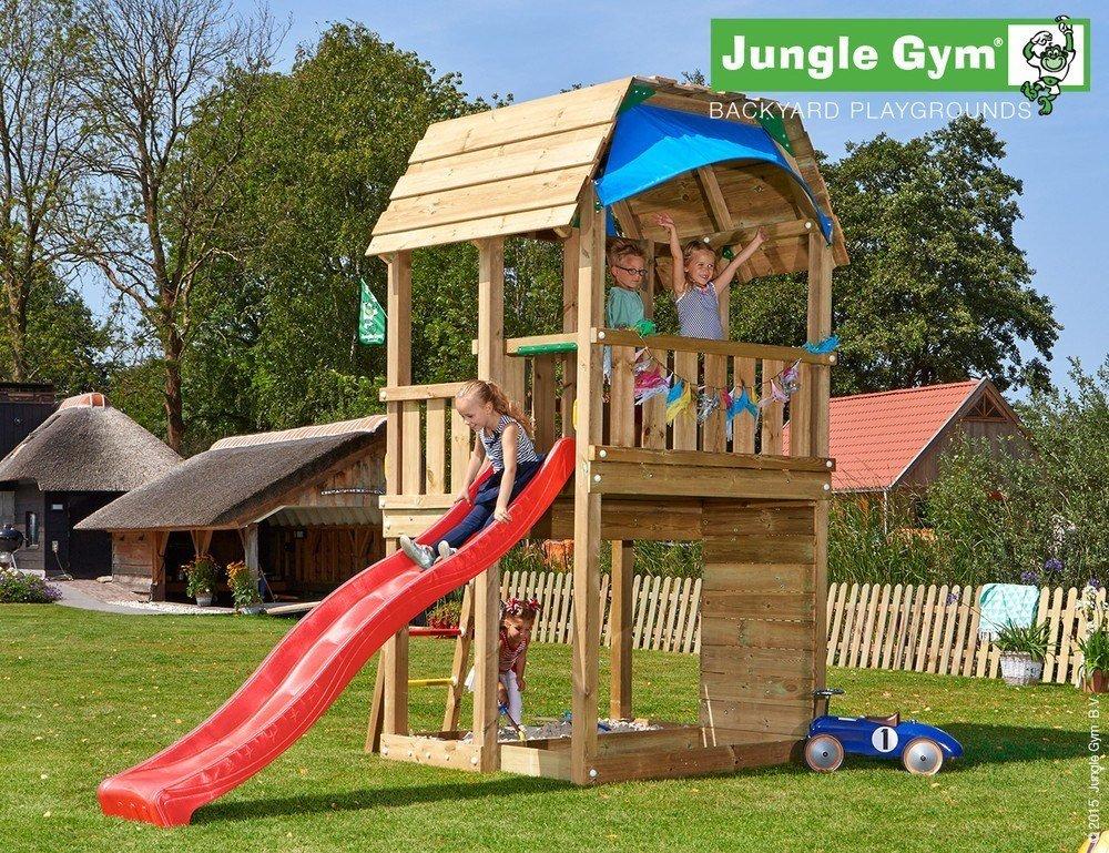 JUNGLE GYM Spielturm Jungle Barn mit Rutschstange, Gesamtmaße (B/T/H): 200/420/320 cm