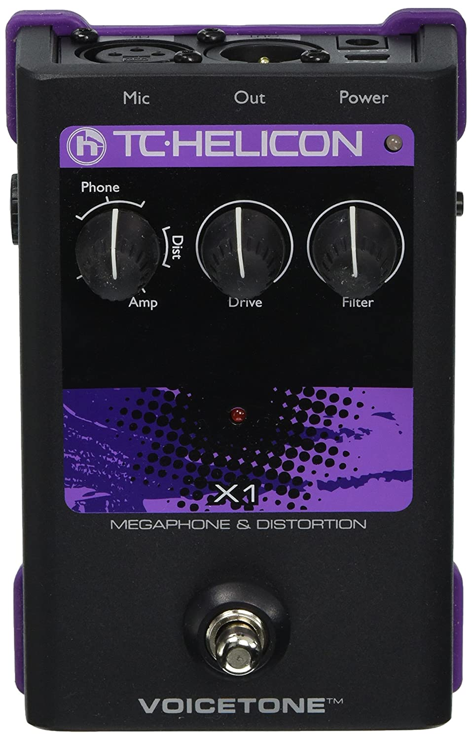 TC Helicon Singles VoiceTone X1 Vocal Effects Processor 996010005