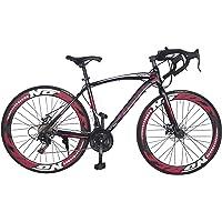 Vélo de route, vélo de sport, shimano, 21 vitesses, disques de freins (Noir)