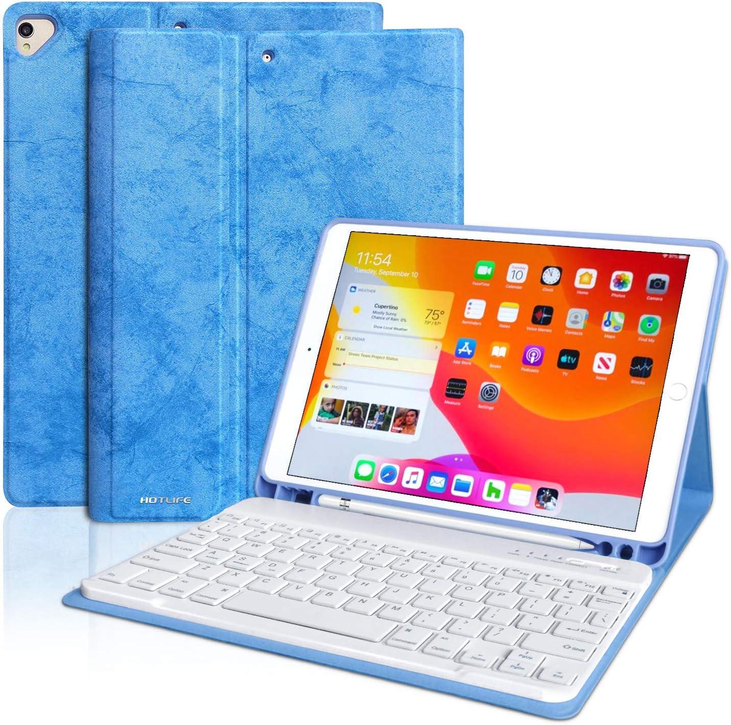 Funda con teclado para iPad 10.2 2020 / iPad Air 3 (Azul)