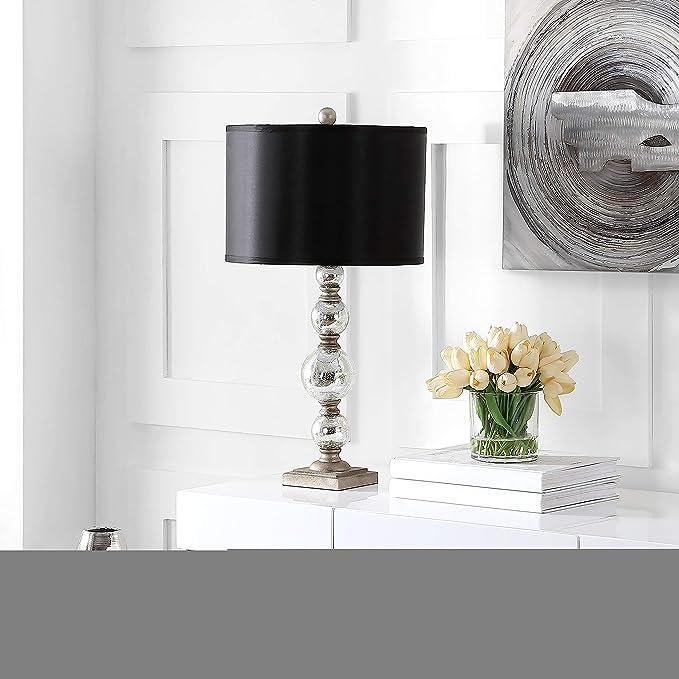 Amazon Com Safavieh Lighting Collection Nettie Mercury Glass 28 Inch Table Lamp Set Of 2 Home Kitchen
