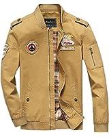 uygmxdnxg Chamarra Militar Del Ejército de Clásico de Algodón Casual Fuerza Aérea Para Hombre Casual Fina