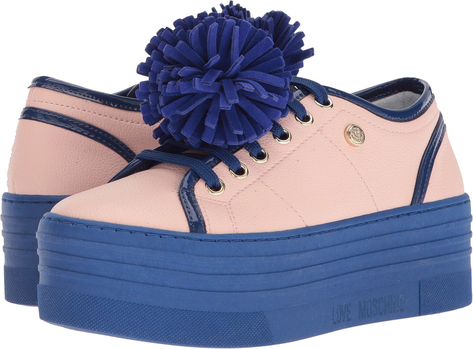 Love Moschino Women's Platform Sneakers Pink/Black 38 M EU