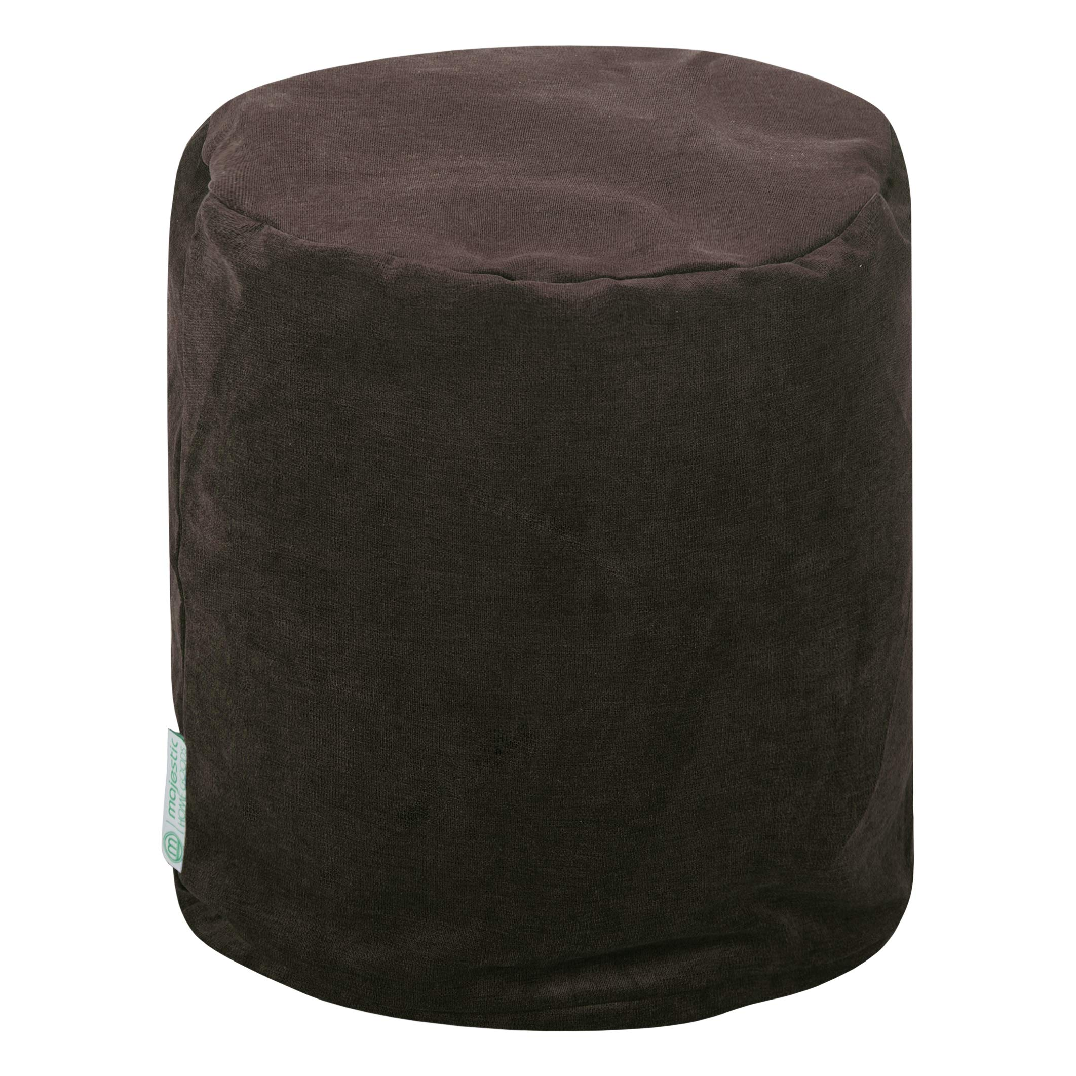 Majestic Home Goods Storm Villa Indoor Bean Bag Ottoman Pouf 16'' L x 16'' W x 17'' H