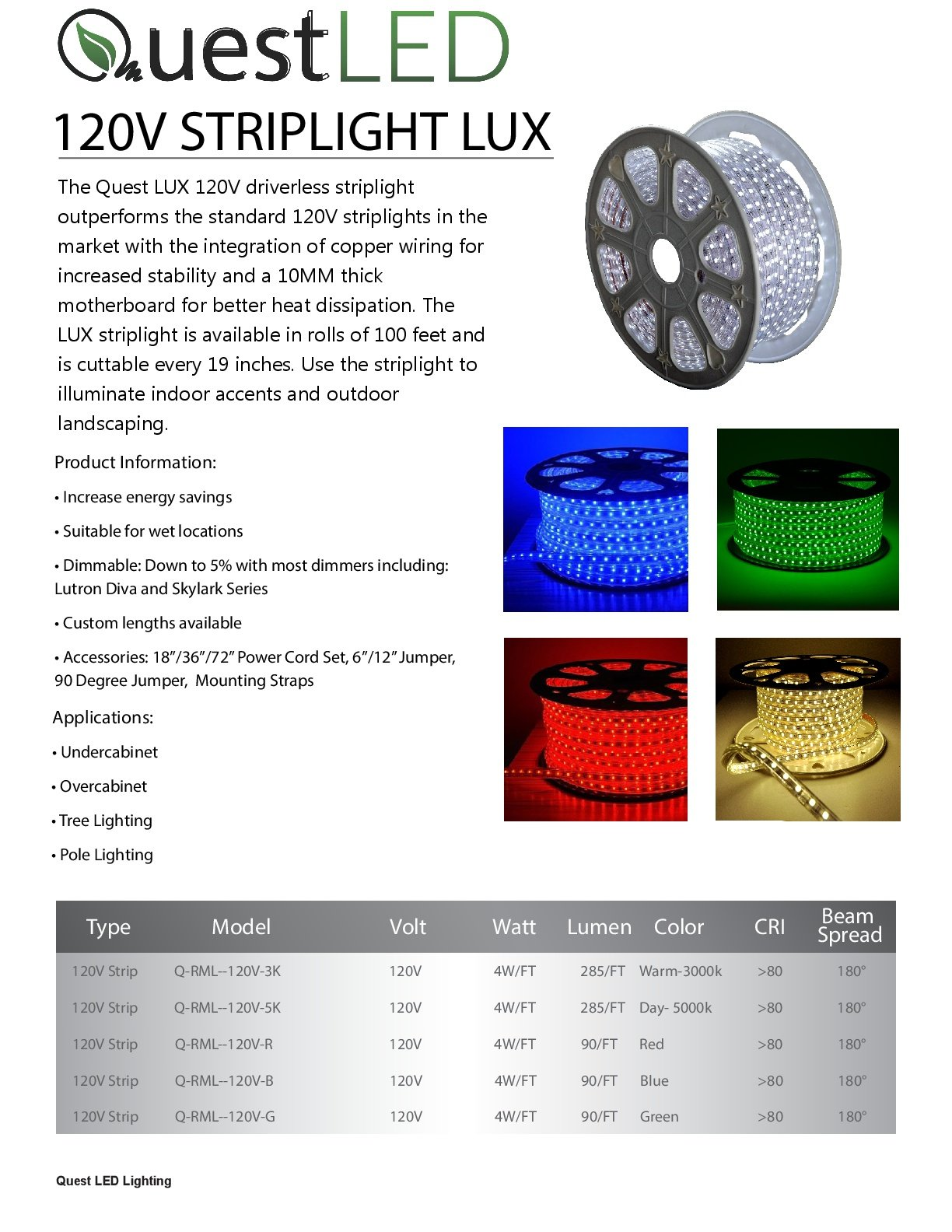 100FT LED Strip Rope Light; Indoor/Outdoor Use; Dimmable; 120V; With Power Cord; Cuttable- Blue Light