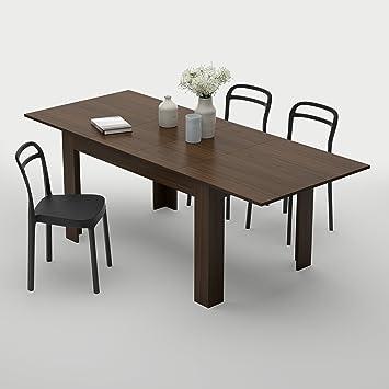 Mobilifiver easy table de salle à manger extensible jusquà 220 cm bois