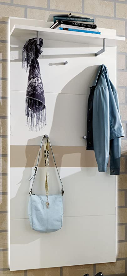Voss Viola Furniture Wardrobe Panel Hat Rack With 5 Hooks And With Wide  Model In Gloss