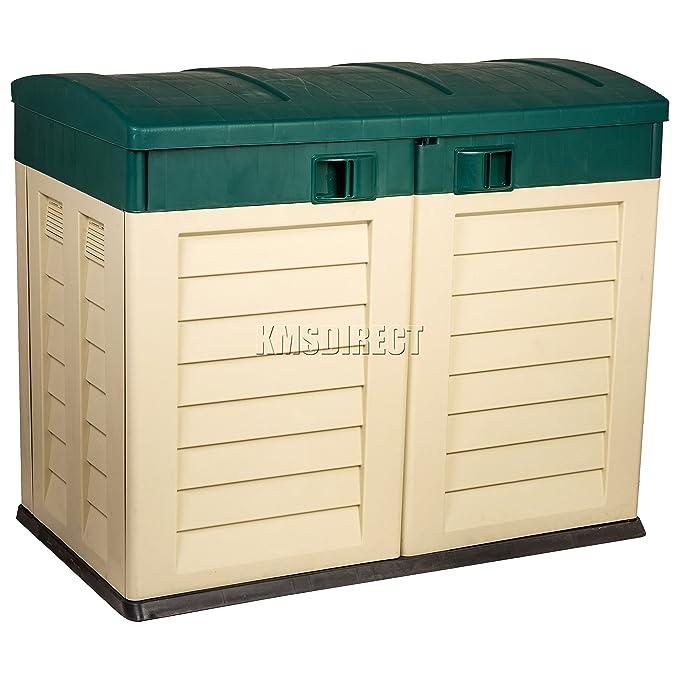Starplast exterior plástico para Baja de jardín cobertizo unidad de almacenamiento de caja de herramientas para herramientas de basura bicicleta sin óxido ...