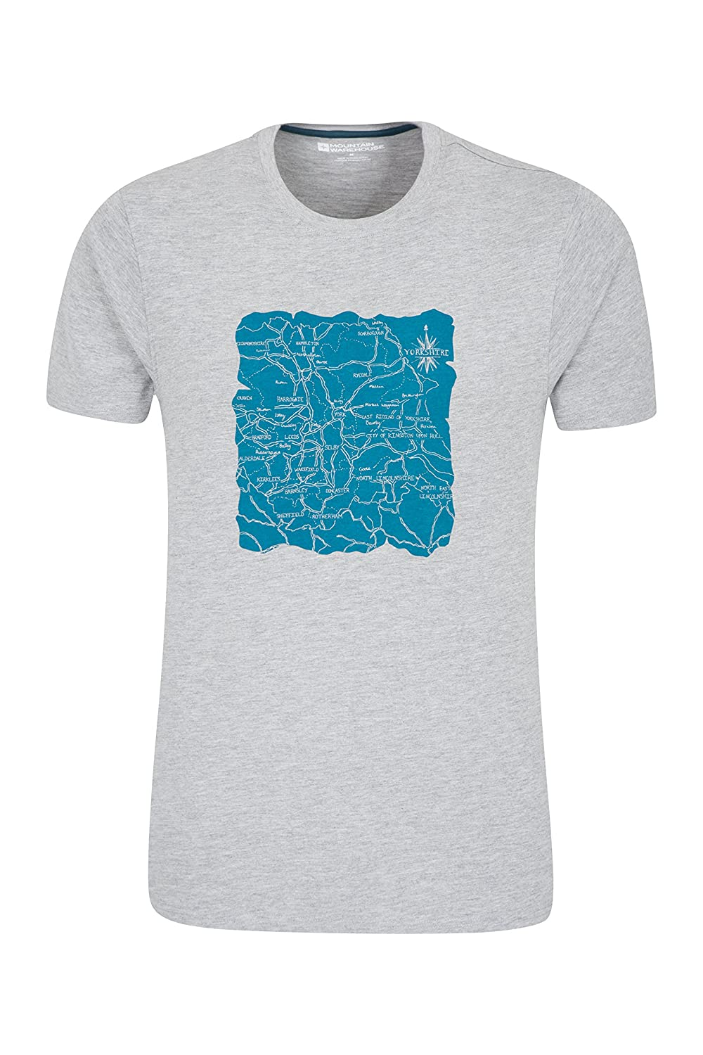 Mountain Warehouse Yorkshire District Mens Tee - Quick Drying Summer Tshirt, Quality Print, Wicking Top, Breathable, Easy Care Undershirt Spring Travelling, Sports
