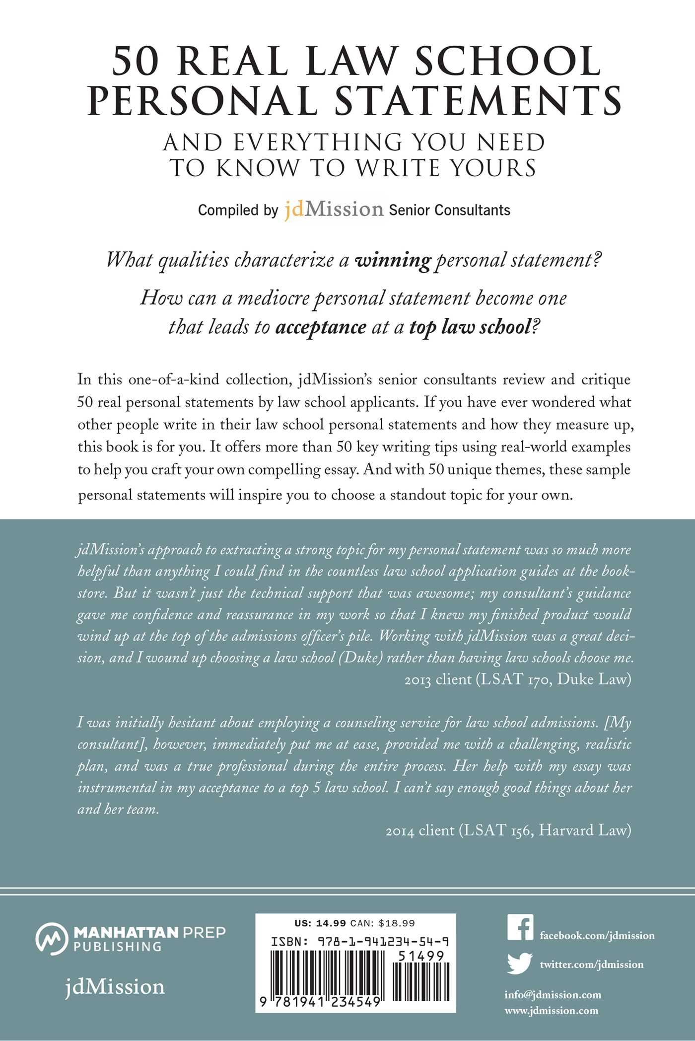 50 real law school personal statements and everything you need to know to write yours manhattan prep lsat strategy guides jdmission senior consultants - Law School Essay Examples