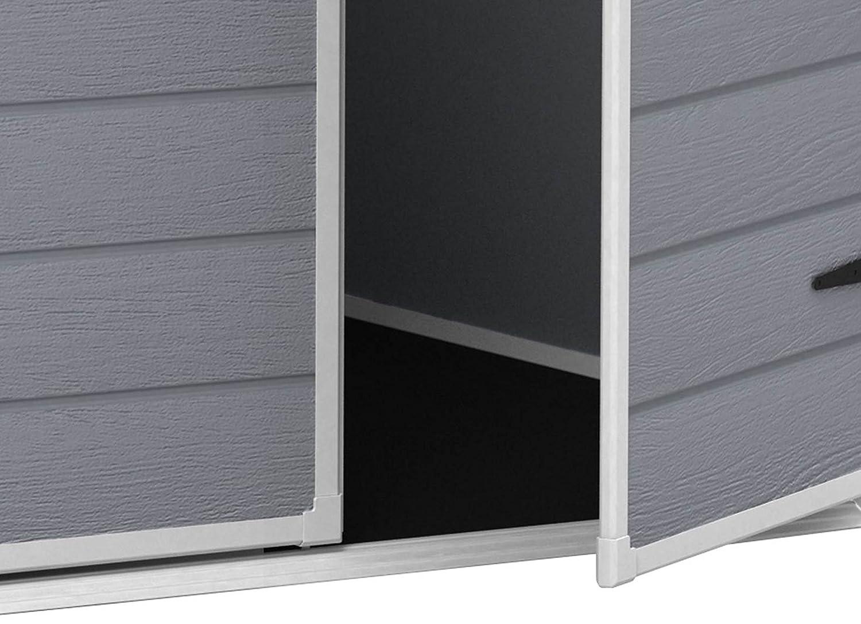 Keter 12-premium65dd Premium 65 - Caseta Resina de jardín polipropileno gris 185 x 152 x 226 cm: Amazon.es: Jardín