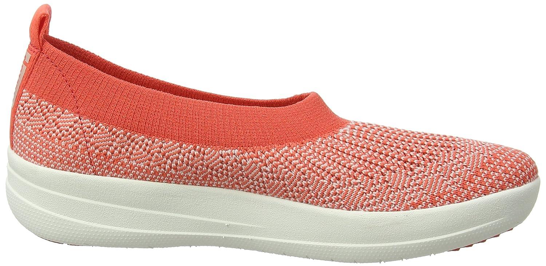 Fitflop H95 Women's Uberknit? Slip-On Ballerinas B01M0Y08IW 6 B(M) US Hot Coral/Neon Blush