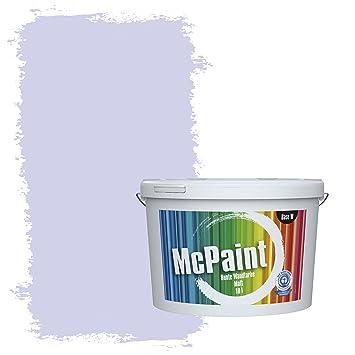 McPaint Bunte Wandfarbe Matt Für Innen Blassviolett 2,5 Liter   Weitere  Blaue Farbtöne Erhältlich
