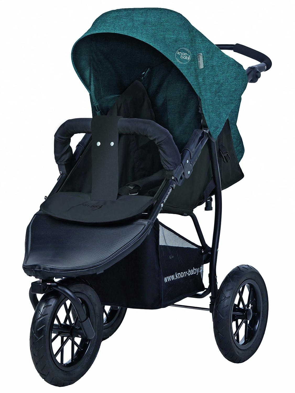 Carrito para ni/ños de la marca Knorr-Baby con tres ruedas y capota azul azul