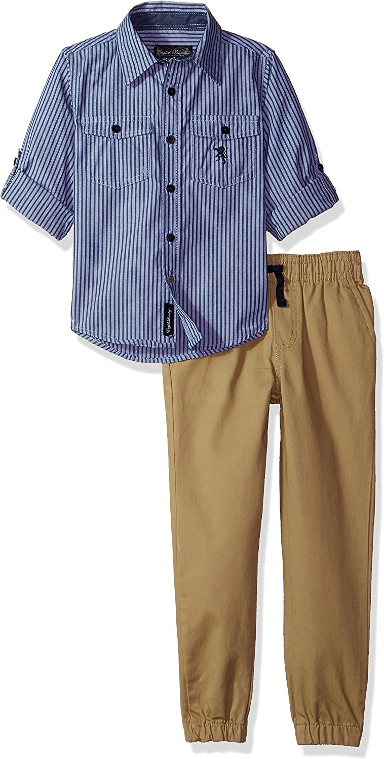 English Laundry Boys' Long Sleeve Shirt and Pant Set (More Styles Available)