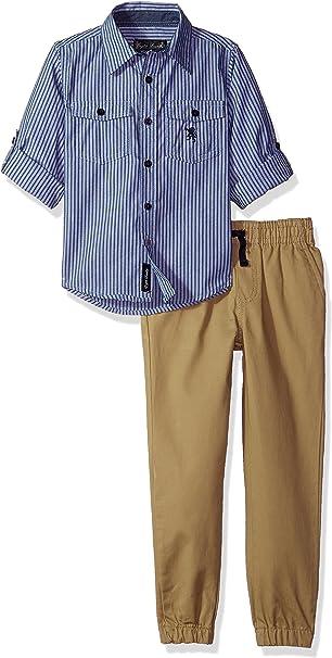 More Styles Available English Laundry Boys Short Sleeve Plaid Shirt