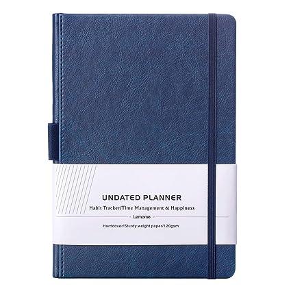Senza Data Agenda con Gli Adesivi del Pianificatore 2019-2020 - 4 Settimane al Mese +1 Progetto di Pagina Delle Note - Portapenne, Carta Spessa, Tasca ...