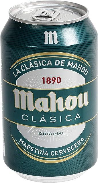 Mahou Clásica Cerveza Dorada Lager, 4.8% de Volumen de Alcohol - Lata de 33 cl: Amazon.es: Alimentación y bebidas