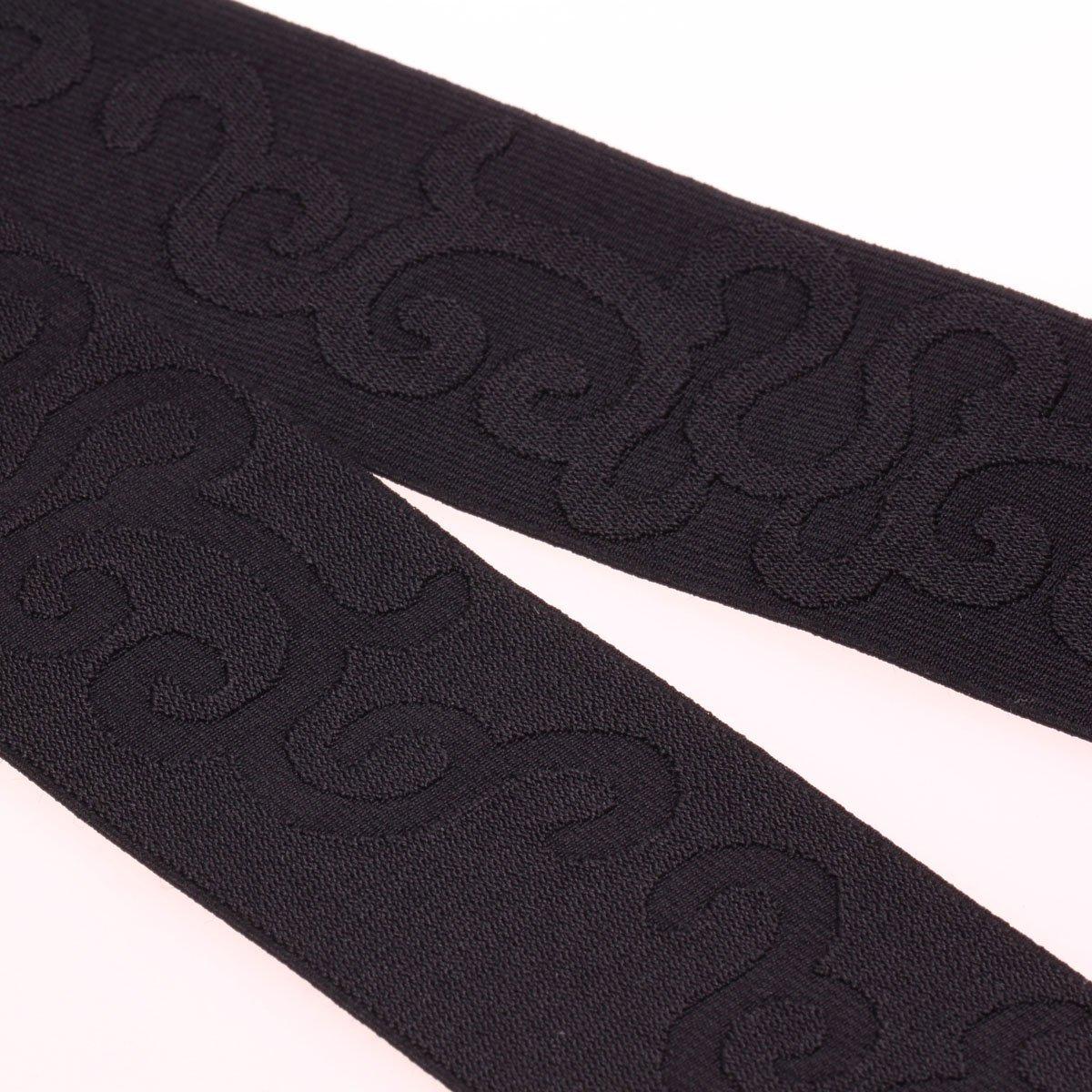 COTOWIN 2-inch Wide Black Jacquard Elastic Band by 3 Yard, Waistband Elastic, Palace Flower Elastic Trim, Stretchy Elastic Ribbon 4337000466