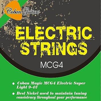 Coban MCG4 guitarras cuerdas para guitarra eléctrica 9 – 42 x 1 paquete: Amazon.es: Instrumentos musicales
