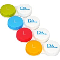 4 x Contact Lens Cases ~ Colour Coded L&R Soaking Storage Cases (Classic)