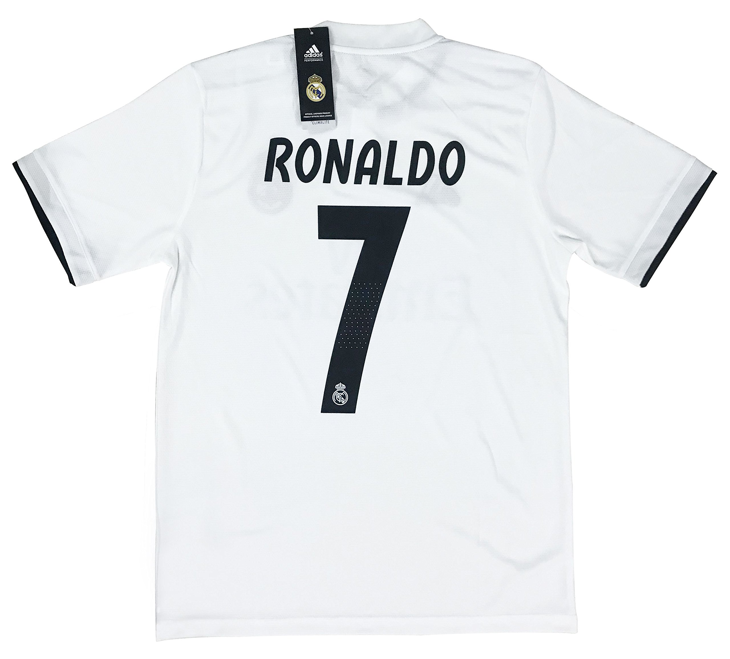 LOPTION  11 Bale Real Madrid Home 2018-2019 Soccer Jersey Mens White 602bd2e6f