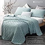 KASENTEX Quilt-Coverlet-Bedspread-Blanket-Set + Two Shams, Ultra Soft, Machine Washable, Lightweight, All-Season, Nostalgic Design - Hypoallergenic - Solid Color