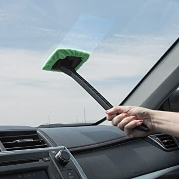 Stalwart Store Windshield Cleaner with Microfiber Cloth
