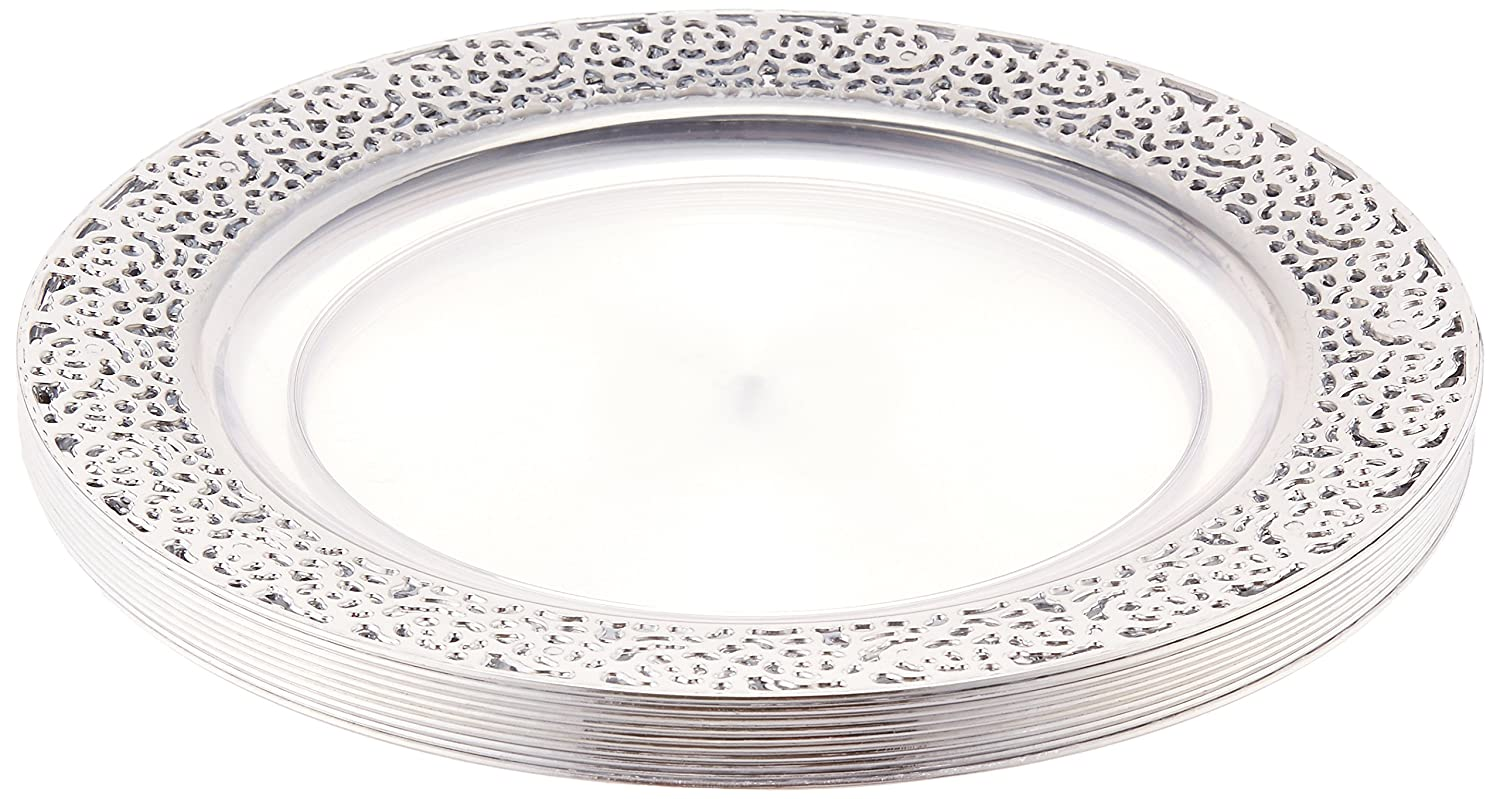 Amazon.com: Inspiration Clear with Silver Lace Rim 10.25