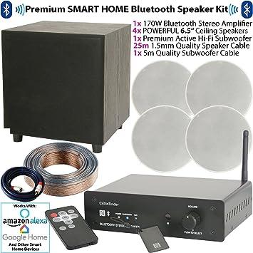 Premium Bluetooth Amplificador y sistema de altavoces – 170 W compacto inalámbrico de audio para altavoz