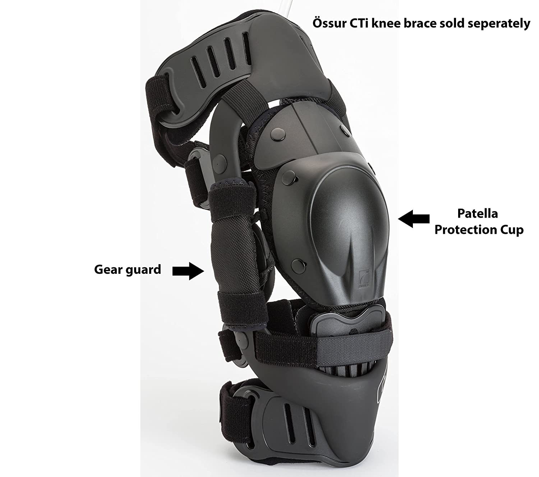 18be6b211e Amazon.com: Ossur CTi Motocross MX Kit v2 - for CTi Knee Brace - Single Set  Includes Patella Protection Cup, Gear Guards, Under-Sleeve and Sticker  Sheet ...