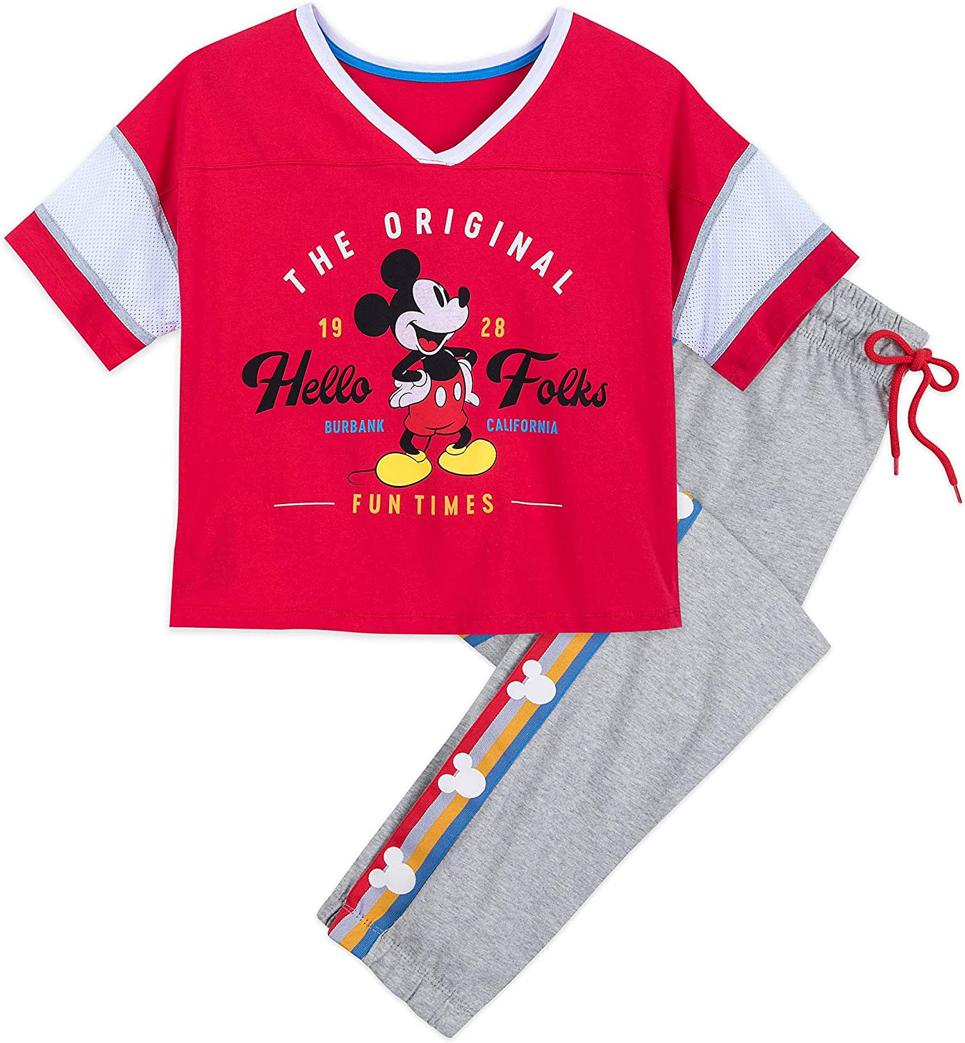 Disney Mickey and Minnie Mouse Pajama Set for Women Multi