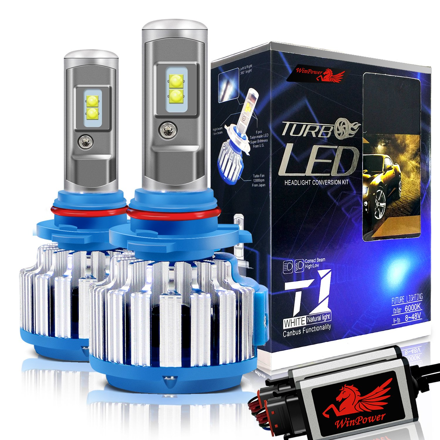 Win Power 9005 LED Headlight Bulbs Conversion Kit