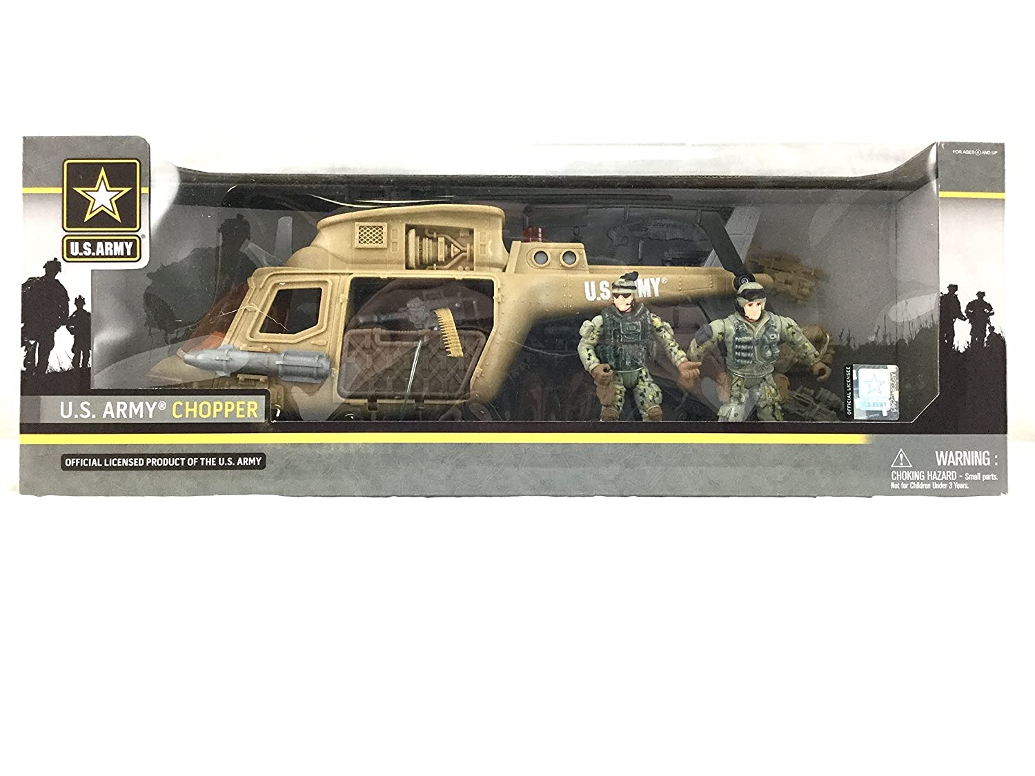 United States Army Chopper Playset with 2 Soldiers