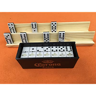 Dominoes Corona with 2 Wood Holders.: Toys & Games