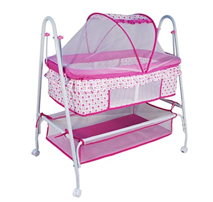 648ab6659 Buy Toy House Baby Crib with Swing Function (Pink) Online at Low Prices in  India - Amazon.in