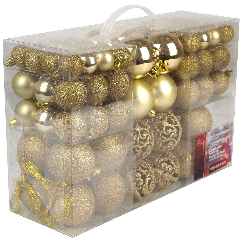 Lote de 100 bolas de Navidad doradas por solo 14,95€