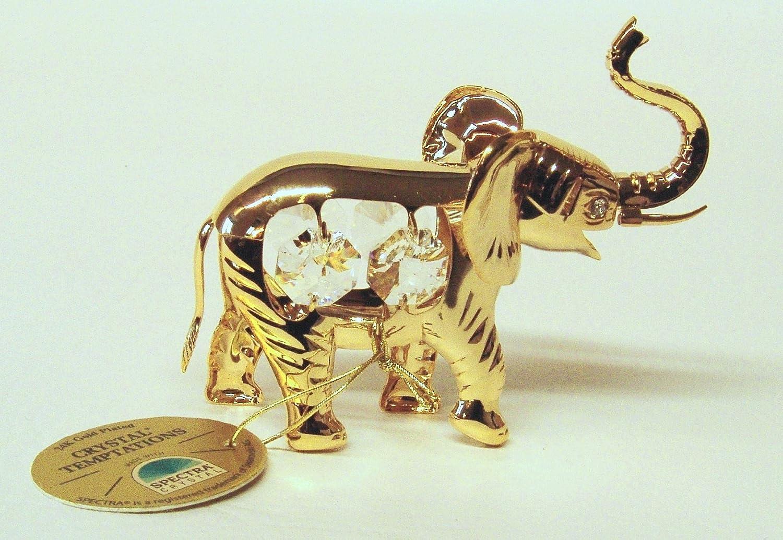 Amazon.com: Elefante con piedras Swarovski chapado en oro ...