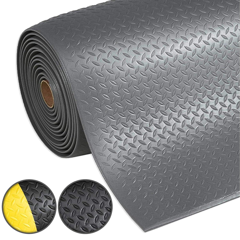 Warnstreifen Schwarz-Gelb Anti-Erm/üdungsmatte Dyna-Protect Diamond 120x150 cm Arbeitsplatzmatte
