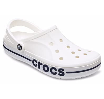 bf99afbf0 Crocs Unisex Adult Bayaband Clogs White  Buy Online at Low Prices in India  - Amazon.in
