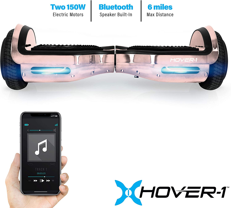 Amazon.com: Hover-1 - Patinete eléctrico cromado: Sports ...
